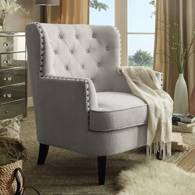 Chrisanna Wingback Chair Upholstery: Beige
