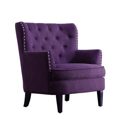Chrisanna Wingback Chair Upholstery: Voilet
