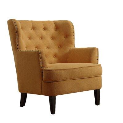Chrisanna Wingback Chair Upholstery: Mustard Yellow