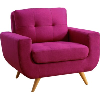 Clementina Arm Chair Upholstery: Magnetic Pink