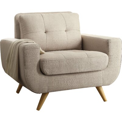 Clementina Armchair Upholstery: Beige