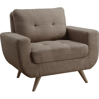 Clementina Arm Chair Upholstery: Wheat