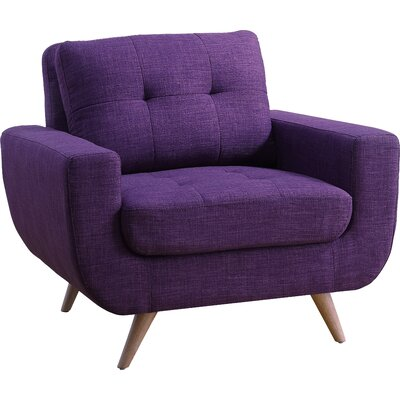 Clementina Arm Chair Upholstery: Radiant violet