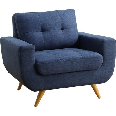 Clementina Arm Chair Upholstery: Classic Navy