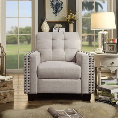 Delicia Armchair Upholstery: Beige