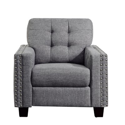 Delicia Armchair Upholstery: Gray