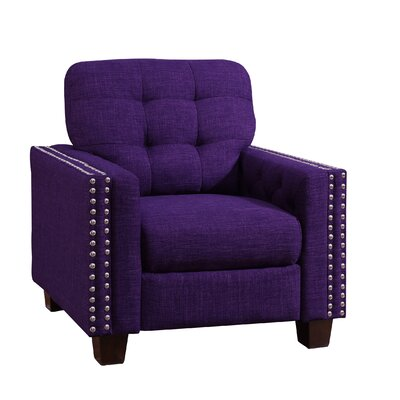 Janousek Armchair Upholstery: Radiant Violet