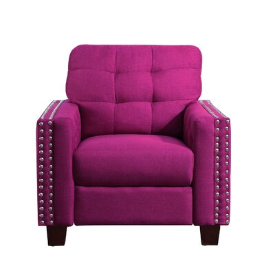 Delicia Arm Chair Upholstery: Magnetic Pink