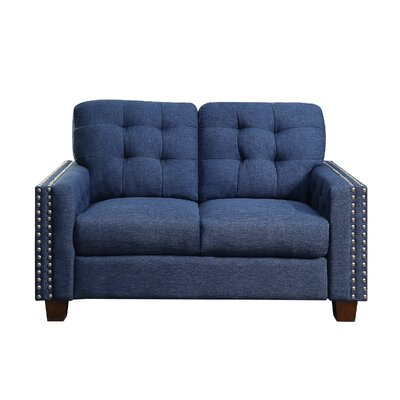 Delicia Tufted Loveseat Upholstery: Classical Navy