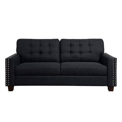 Delicia Tufted Sofa Color: Charcoal