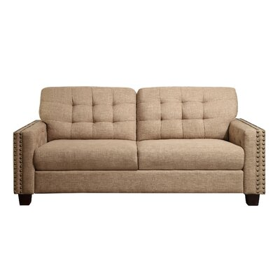 Delicia Tufted Sofa Color: Wheat