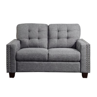 Janousek Tufted Loveseat Upholstery: Gray