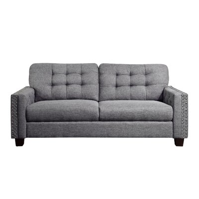 Delicia Tufted Sofa Upholstery: Gray