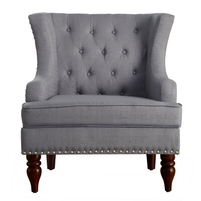 Jewel Wingback Chair Upholstery: Grey