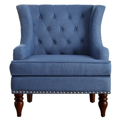 Jewel Wingback Chair Upholstery: Royal Blue