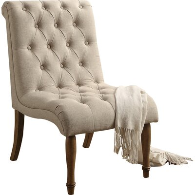 Iris Side Chair Upholstery: Warm Beige