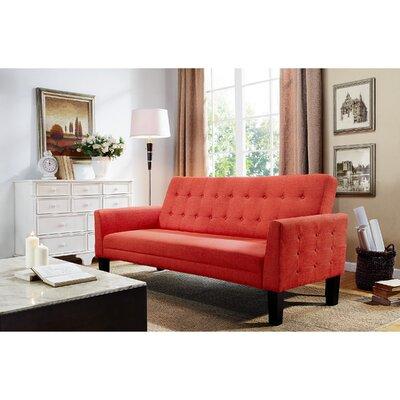 Arianna Sofa Bed Sleeper Upholstery: Orange