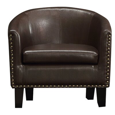 Isabel Barrel Chair Upholstery: 2 Tone Espresso