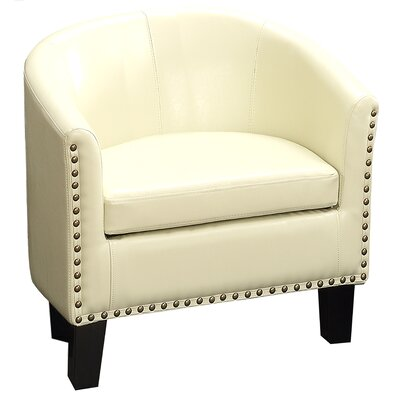 Isabel Barrel Chair Upholstery: Ivory