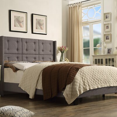Chica Upholstered Panel Bed Size: Full, Color: Mocha