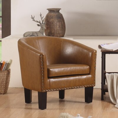 Isabel Barrel Chair Upholstery: Caramel
