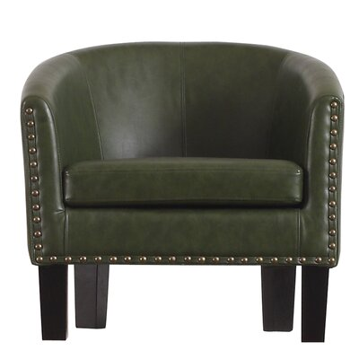 Isabel Barrel Chair Upholstery: Olive Green