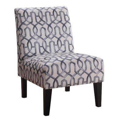 Karina Slipper Chair Upholstery: Silver/Gray