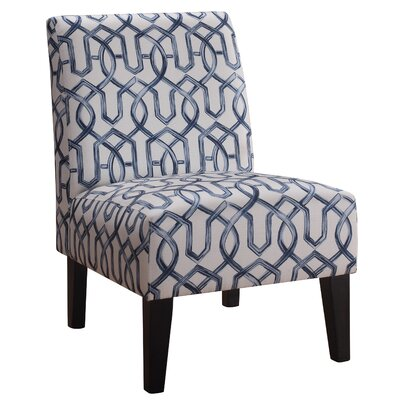 Karina Slipper Chair Upholstery: Lapis Blue