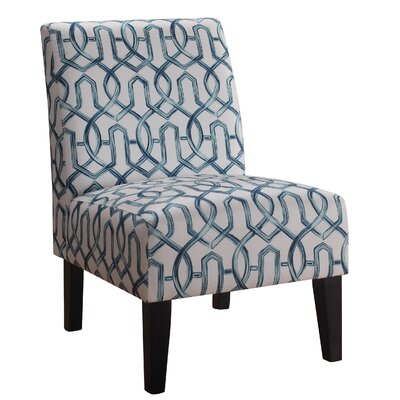 Karina Slipper Chair Upholstery: Teal