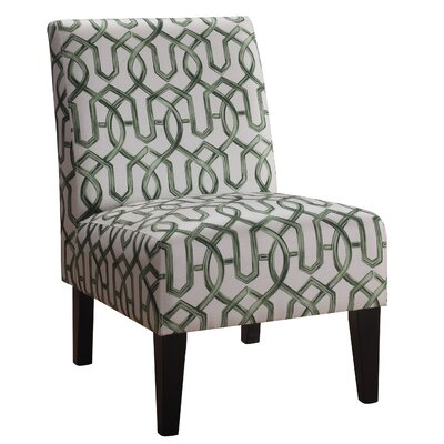 Karina Slipper Chair Upholstery: Greenery