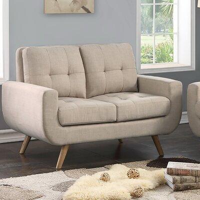 Bilski Tufted Loveseat Upholstery: Beige