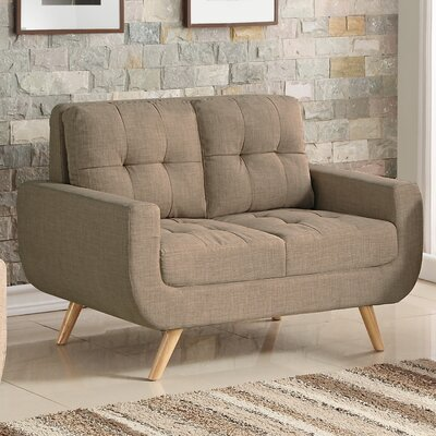 Bilski Tufted Loveseat Upholstery: Wheat