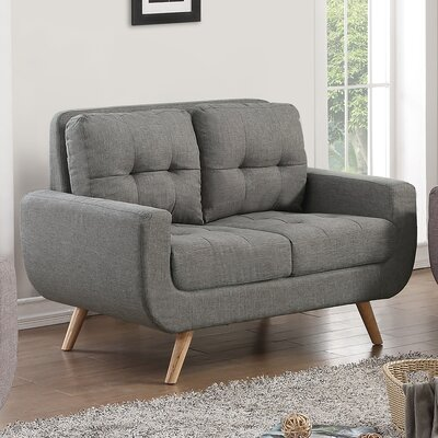 Clementina Tufted Loveseat Upholstery: Gray