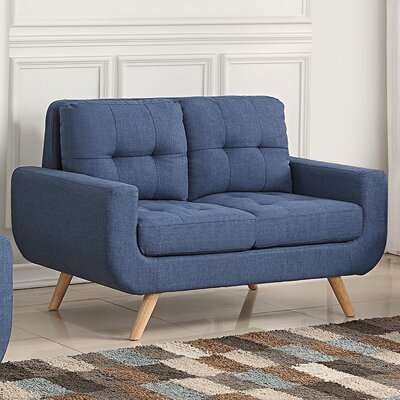 Clementina Tufted Loveseat Upholstery: Classic Navy