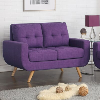 Clementina Tufted Loveseat Upholstery: Radiant Violet