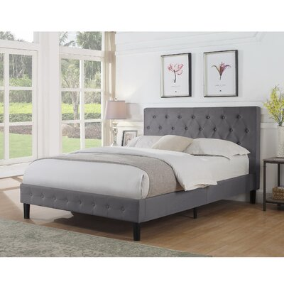 Hankerson Upholstered Platform Bed Size: Full/Double, Color: Light Gray