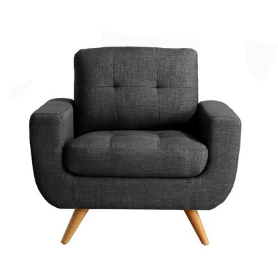 Clementina Armchair Upholstery: Charcoal