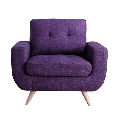 Clementina Armchair Upholstery: Radiant violet