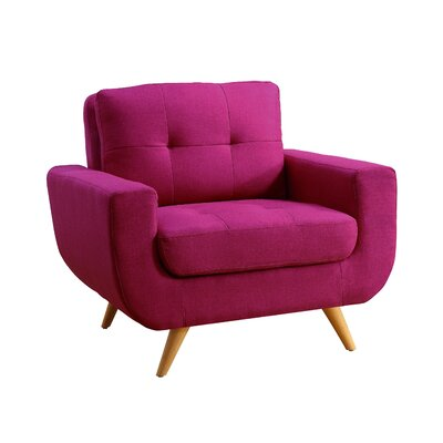 Clementina Armchair Upholstery: Magnetic Pink
