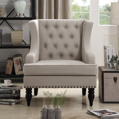 Jewel Wingback Chair Upholstery: Beige
