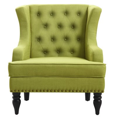 Jewel Wingback Chair Upholstery: Pear Green