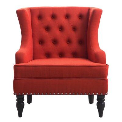 Jewel Wingback Chair Upholstery: Zuma Atomic