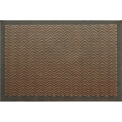 Waves Copper Rubber Doormat