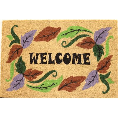 Fall Foliage Coir (Coco) Welcome Doormat