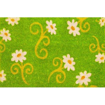 Jasmine Flower Coir (Coco) Doormat