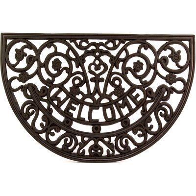 Half Round Wrought Iron Rubber Welcome Doormat