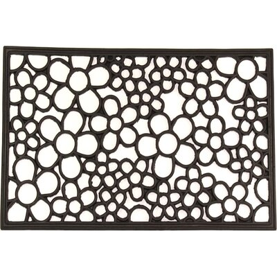 Floral Wrought Iron Rubber Doormat