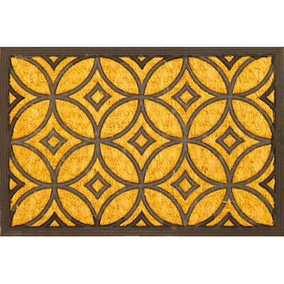 Geometric Art Deco Coir (Coco) Rubber Doormat