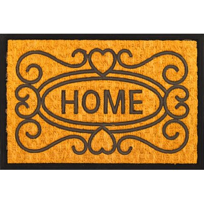 Welcome Home Coir (Coco) Rubber Doormat