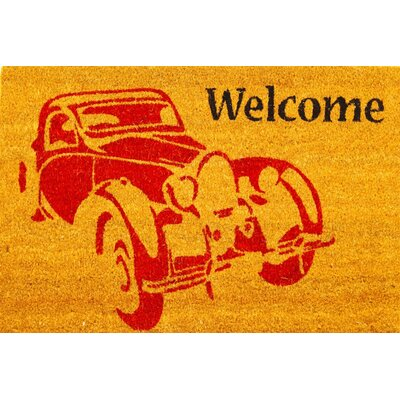 Vintage Car Welcome Doormat